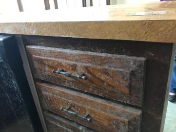 Mold on kitchen cabinets